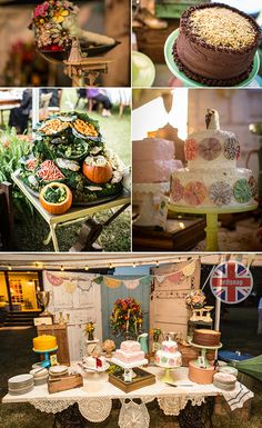 dessert table at fun country wedding