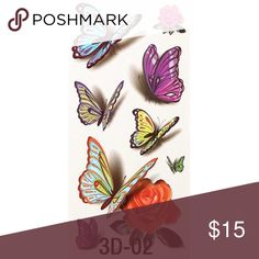 3D Temporary Tattoo 100% Brand New Size: app 190*90MM Technology: Hot-stamping gold,silver, black, colorful tattoos; 1. Cut out tattoo of choice. 2. Remove clear, protective top sheet. 3. Press tattoo firmly onto clean, dry skin with design face down. 4. Wet tattoo thoroughly using wet sponge or cloth. 5. Peel off paper backing after 30 seconds. Pat dry. 6. Tattoos can be removed by washing with soap and water. To remove tattoos more easily, you can use a drop of body oil.   Package List: 1…