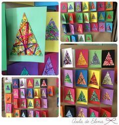 Postales solidarias para Ángeles sin alas hechas por los alumnos de 6º de primaria. Aula de Elena.