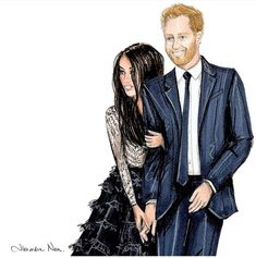 FEATURING: @alexandra_nea for the #RoyalWedding #PrinceHarry & #MeghanMarkle #FashionIllustrations |Be Inspirational ❥|Mz. Manerz: Being well dressed is a beautiful form of confidence, happiness & politeness