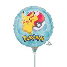 Liten rund folieballong i Pokemon-tema! Holder følger med. Alltid litt ekstra stas for bursdagsbarnet å få sin egen lille ballong. Mål: 22cmBallongen kommer oppblåst!