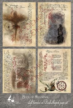 Book of Shadows: Left handed Magick set