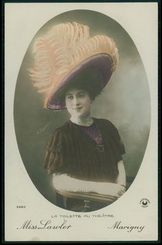 Sauber Theater theatre fashion Edwardian lady original 1910s photo postcard | Collectibles, Postcards, People | eBay!