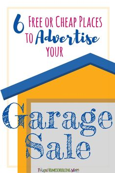 Are you holding a garage or yard sale soon? If so you might be wondering how to make it your best one yet. After all, the whole point of having a garage sale it to clear away clutter and make some … Garage Sale Signs, Yard Sale Signs, Local News Stations, Free Homeschool Curriculum, Free Ads, Word Out, Frugal Tips, Learning Activities, Encouragement
