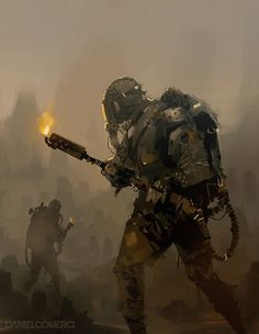 Some personal sketches, flamethrower characters in a post-apocalyptic toxic wasteland. Apocalypse Aesthetic, Apocalypse Art, Mad Max, Character Concept, Character Art, Fallout, Post Apocalyptic Art, Electronic Arts, Science Fiction