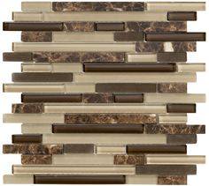 Marazzi Crystal Stone II Random Sized Glass Frosted Mosaic in Espresso & Reviews | Wayfair