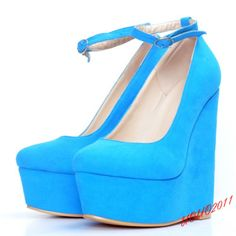 Lady Ankle Strap Platform Wedge Hidden Heel High Heels Sexy Creeper Comfy Pumps