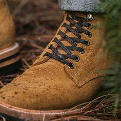 The Trench Boot in Golden Weatherproof Suede