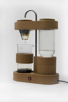 kitchen appliances made of upcycled electronic components : gaspard tiné-berès: short-circuit - Coffee Maker - Ideas of Coffee Maker Coffee Brewer, V60 Coffee, Coffee Lab, Iced Coffee, Friday Coffee, Coffee Mugs, Coffee Barista, Coffee Scrub, Coffee Cozy