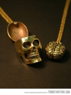 Best Friends Necklace…Uh,if we ever get these,I get the skull.You can have the brain.Muhahahahaha