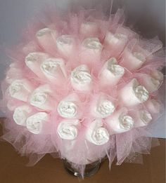 Pink Diaper bouquet – baby shower centerpiece – baby shower gift – baby shower decorations – new baby gift – new mom gift – baby shower idea - Cupcake Baby Shower Ideen Regalo Baby Shower, Baby Shower Diapers, Diaper Shower, Diy Baby Shower Decorations, Baby Shower Centerpieces, Centerpiece Decorations, Baby Girl Shower Themes, Baby Boy Shower, Ballerina Baby Showers