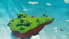 Low Poly Floating Islands 2015