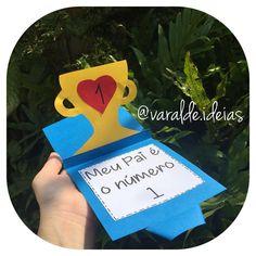Esse é o cartão para o Dia dos Pais por dentro, olhem que fofura 😍😍😍 Profs, ele é muito simples e fácil de fazer, querem aprender? Fiz um…