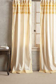 Embroidered Aravalli Curtain #anthropologie