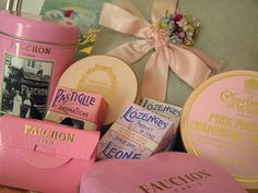 Pink and Champaign - pretty color combo. Confection Collection by andrea singarella, via Flickr