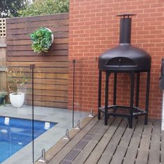 Giotto-Alfresco-Pizza-Oven Best Outdoor Pizza Oven, Portable Pizza Oven, Wood Fired Oven, Wood Fired Pizza, Mobile Pizza Oven, Fire Pizza, Composite Decking, Wall Oven, Contemporary Style