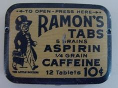 "Vintage 1900's RAMON'S ""The Little Doctor Litho"" Asprin Tin"