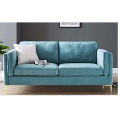 Velvet Furniture, Blue Furniture, Settees, Loveseats, Blue Velvet Sofa, Apartment Sofa, Beautiful Sofas, Chair And Ottoman, Couch