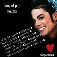 He is my daily music Michael Jackson Quotes, Michael Jackson Smile, King Of Music, Good Spirits, Hard To Love, True Facts, Beautiful Person, Love People, Mj Quotes