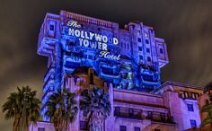 Tower of Terror! I love this ride at night!