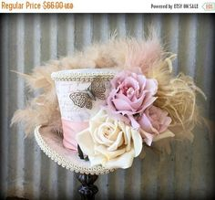 ON SALE Mini Top Hat Butterfly Flower Mini Top Hat Mad