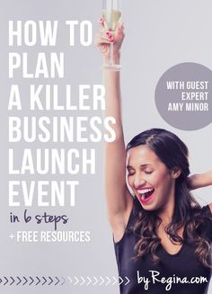 Love this! How to Plan a Killer Business Launch Event (in 6 steps). Guest expert Amy Minor shares 6 steps and several great questions you should ask and answer while planning your business launch event. Did I mention there are some free spreadsheets/templates too? business ideas #smallbusiness small business ideas wahm ideas