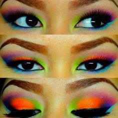 Neon eyeshadow :D