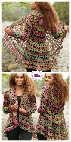 DIY Crochet Cardigan Sweater Free Patterns DIY Crochet Circle Cardigan Sweater Free Crochet Patterns Crochet Fall Festival Circular Cardigan Free Crochet Pattern The Effective Pictures We Offer You About knitting vs crocheting A Diy Crochet Cardigan, Gilet Crochet, Crochet Cardigan Pattern, Sweater Knitting Patterns, Crochet Shawl, Crochet Sweaters, Crochet Circle Vest, Fall Knitting, Crochet Patterns Free Tops