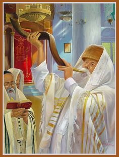 Art by Alex Levin, Welcome to Rosh Hashanah aka Feast of Trumpets! More at www.artlevin.com
