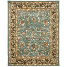 @Overstock - An intricate Oriental design and dense, thick pile highlight this handmade rug. This floor rug has a blue background and a brown border and displays stunning panel colors of ivory, green, red, rose and blue.http://www.overstock.com/Home-Garden/Handmade-Heritage-Blue-Brown-Wool-Rug-6-x-9/5627267/product.html?CID=214117 $224.09