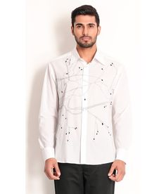 Samant Chauhan Cotton Shirt with Thread Embroidery, http://www.snapdeal.com/product/designer-wear-white-cotton-shirt/2072185495