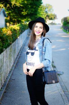 Simple and Chic. - MaryPolka.com @newdressFS @happinessbtq  #backtoschool #ootd #lookbook #ootn #fashion #fashionista #fashionblogger #lookoftheday #statementnecklace #necklace #tshirt #hat #heisenberg #handbag #vogue #newdress #smile #streetstyle #casual #chic #look #blogger #chiclook #styleblogger #MaryPolka  #blogger      MY FASHION BLOG: http://marypolka.com     My Back to School Lookbook Video: https://youtu.be/Z9RH75gOX7U