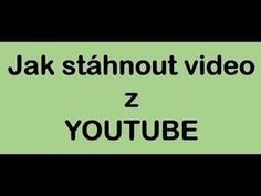 Jak stáhnout video z youtube Twitter Video, Facebook Video, Youtube Hacks, Youtube Youtube, Social Media Video, Insta Videos, Marketing Software, Download Video, Internet