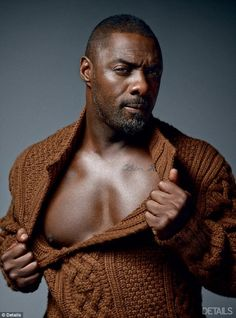 Idris Elba Strips Down for 'Details' Magazine Cover!: Photo Idris Elba shows off his hot body on the cover of Details magazine's September 2014 issue. Here is what the actor had to share with the mag: On… Idris Elba, Luther, Black Is Beautiful, Gorgeous Men, Pretty Men, Pretty Face, Details Magazine, Black Actors, Hommes Sexy