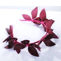 Burgundy headband,flower leather headpiece,Race wear,millinery,flower fascinator,leather hair accessory,wedding, wine headband,cocktail hat  Fantastic hair accessories for weddings, prom, parties or other special occasions.  - Handmade - Natural leather - Size:one size, flexiable - **100% FULL MONEY BACK GUARANTEE** Unlike others sellers, WE STAND behind our brand ILoveCrowns and provide 100% FULL MONEY BACK guarantee, if, For Whatever Reason, You dont Absolutly Love your jewelry, just…