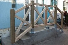 Detailed project on how to build x-shaped deck railings.
