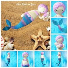 Harmony the mermaid crochet doll, crochet toy. Handmade Market, Handmade Items, When I Grow Up, Organza Gift Bags, Beautiful Gifts, Crochet Toys, Christmas Fun, Dinosaur Stuffed Animal, Mermaid