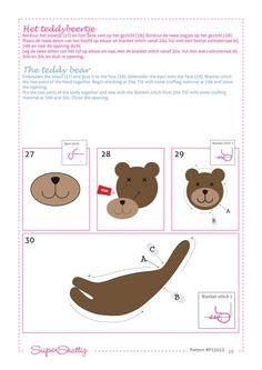 PDF pattern Duco & Teddy Felt pattern for a doll por SuperSkattig