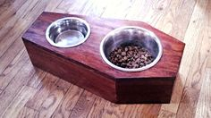 COFFIN BOWL HOLDER- customizable raised dog food stand in Western, Goth style (made to order)