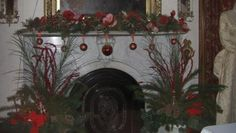 Mantle in Phelps House, Christmas, 2012
