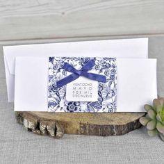 invitacin de boda con sobre de dibujos de flores moradas