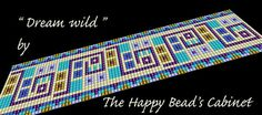 "Bead loom bracelet pattern , cuff jewelry design ,"" Dream wild "" - INSTANT DOWNLOAD PDF , bracelet, cuff, jewelry,handbag"