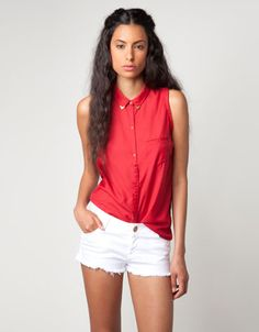 Bershka Colombia - Camisa Bershka detalle cuello