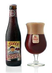 Silly Rouge Belgian beer by Brasserie de Silly
