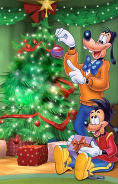 Christmas- Disney- Pluto & Son