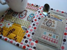 A Mug {rug} of Scraps designed by Jennifer from Sew We Quilt