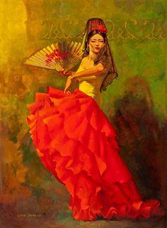 vintage famenco dancer seen on retrogoddess