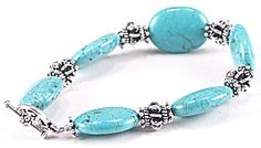 Jewelry Making Idea: Turquoise and Silver Bracelet (eebeads.com)