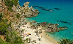 Beach near Marinella, Calabria, southern Italy.