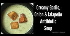 Garlic is a powerful, natural antibiotic that doesn't kill off our healthy bacteria like drug antibiotics do. Unlike chemical antibiotics, garlic is also an. Great Recipes, Soup Recipes, Cooking Recipes, Favorite Recipes, Cooking Stuff, Healthy Cooking, Healthy Snacks, Healthy Eating, Bronchitis